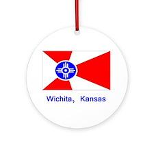 Wichita KS Flag Ornament (Round)