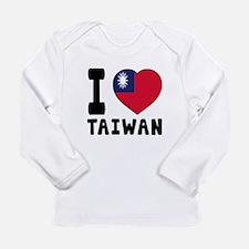 I Love Taiwan Long Sleeve Infant T-Shirt