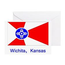 Wichita KS Flag Greeting Card