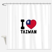 I Love Taiwan Shower Curtain