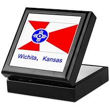 Wichita KS Flag Keepsake Box