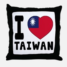 I Love Taiwan Throw Pillow