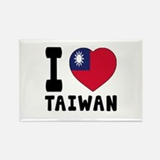 I Love Taiwan Rectangle Magnet