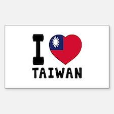I Love Taiwan Decal