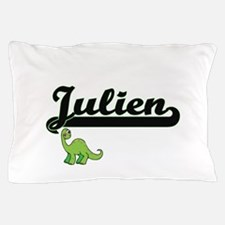 Julien Classic Name Design with Dinosa Pillow Case