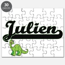 Julien Classic Name Design with Dinosaur Puzzle