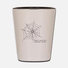 Spiders: Nope Shot Glass