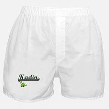 Kadin Classic Name Design with Dinosa Boxer Shorts