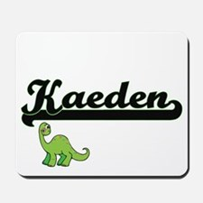 Kaeden Classic Name Design with Dinosaur Mousepad