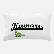 Kamari Classic Name Design with Dinosa Pillow Case