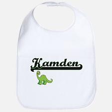 Kamden Classic Name Design with Dinosaur Bib
