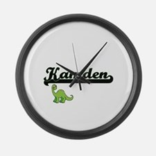 Kamden Classic Name Design with D Large Wall Clock