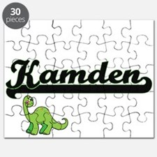 Kamden Classic Name Design with Dinosaur Puzzle