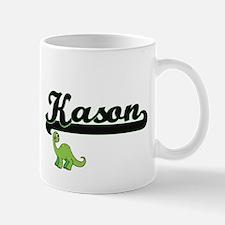 Kason Classic Name Design with Dinosaur Mugs