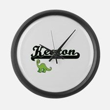 Keaton Classic Name Design with D Large Wall Clock