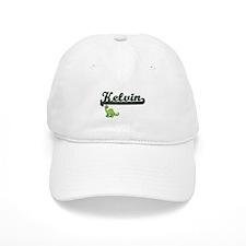 Kelvin Classic Name Design with Dinosaur Baseball Cap