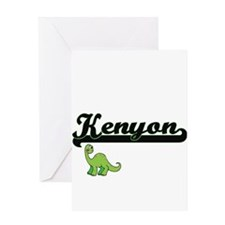 Kenyon Classic Name Design with Din Greeting Cards