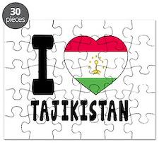 I Love Tajikistan Puzzle