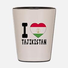 I Love Tajikistan Shot Glass