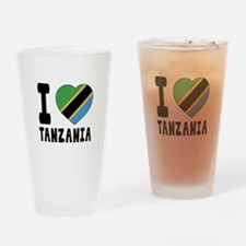 I Love Tanzania Drinking Glass