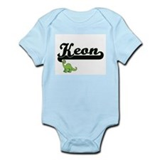 Keon Classic Name Design with Dinosaur Body Suit