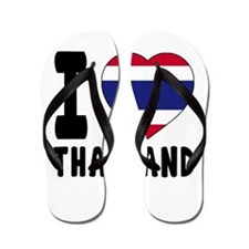 I Love Thailand Flip Flops