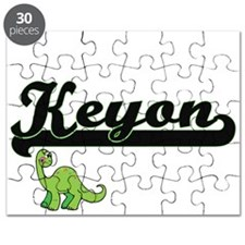 Keyon Classic Name Design with Dinosaur Puzzle