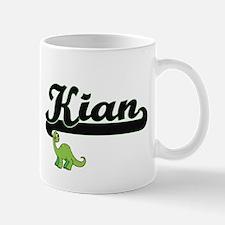 Kian Classic Name Design with Dinosaur Mugs