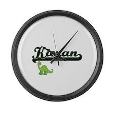 Kieran Classic Name Design with D Large Wall Clock