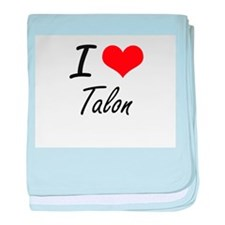 I Love Talon baby blanket