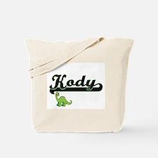 Kody Classic Name Design with Dinosaur Tote Bag