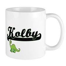 Kolby Classic Name Design with Dinosaur Mugs