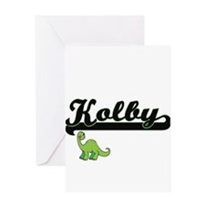 Kolby Classic Name Design with Dino Greeting Cards