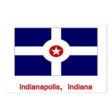 Indianapolis IN Flag Postcards (Package of 8)