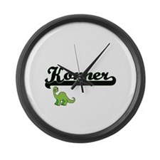 Konner Classic Name Design with D Large Wall Clock