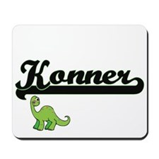 Konner Classic Name Design with Dinosaur Mousepad