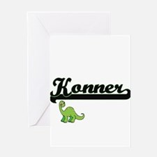 Konner Classic Name Design with Din Greeting Cards