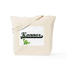 Konnor Classic Name Design with Dinosaur Tote Bag
