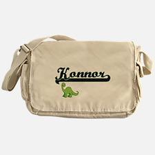 Konnor Classic Name Design with Dino Messenger Bag