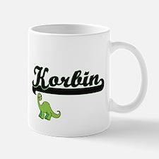 Korbin Classic Name Design with Dinosaur Mugs