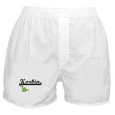 Korbin Classic Name Design with Dinos Boxer Shorts