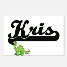 Kris Classic Name Design Postcards (Package of 8)