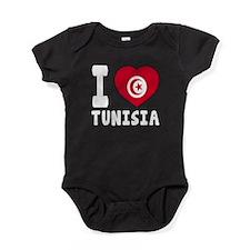 I Love Tunisia Baby Bodysuit