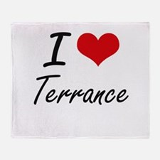 I Love Terrance Throw Blanket