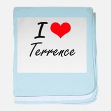 I Love Terrence baby blanket