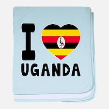 I Love Uganda baby blanket