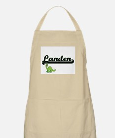 Landen Classic Name Design with Dinosaur Apron