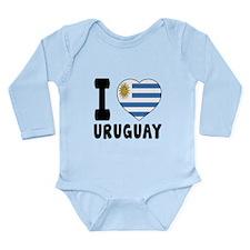 I Love Uruguay Long Sleeve Infant Bodysuit