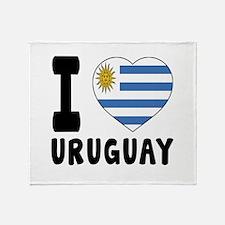 I Love Uruguay Throw Blanket