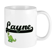 Layne Classic Name Design with Dinosaur Mugs